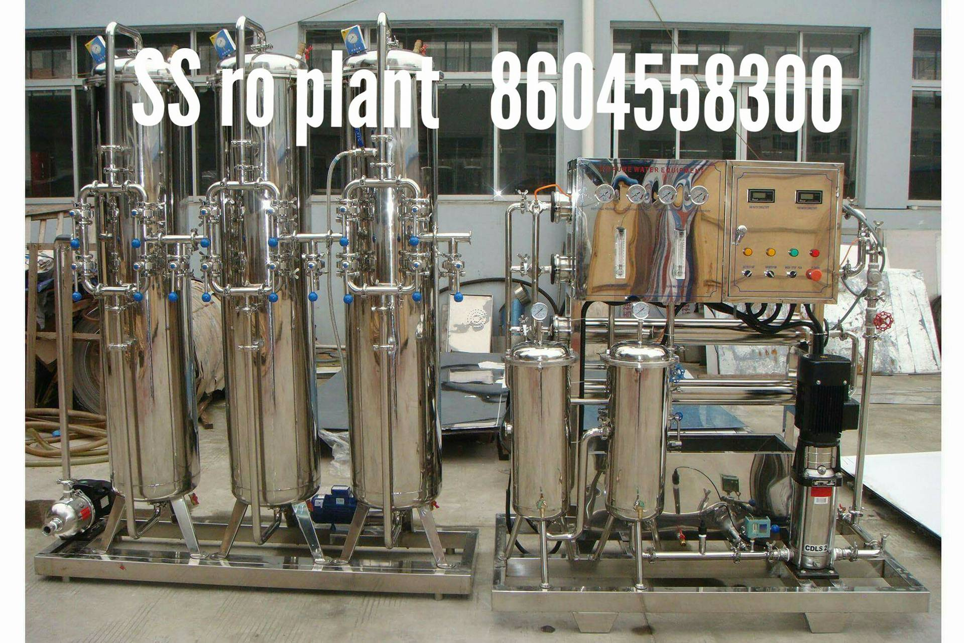 2000 Lph Stainless Steel Ro Plant